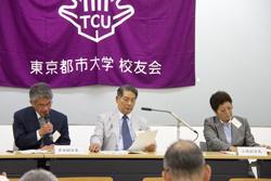 吉田 副会長、松下 会長、小林 副会長