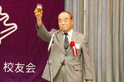 懇親会 乾杯 安味貞正 先生(S33機械)