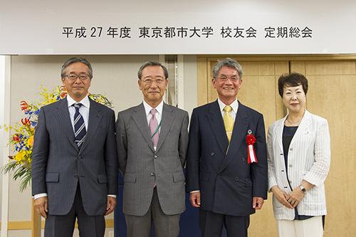 松村 副会長、原口 副会長、吉田 会長、川辺 副会長